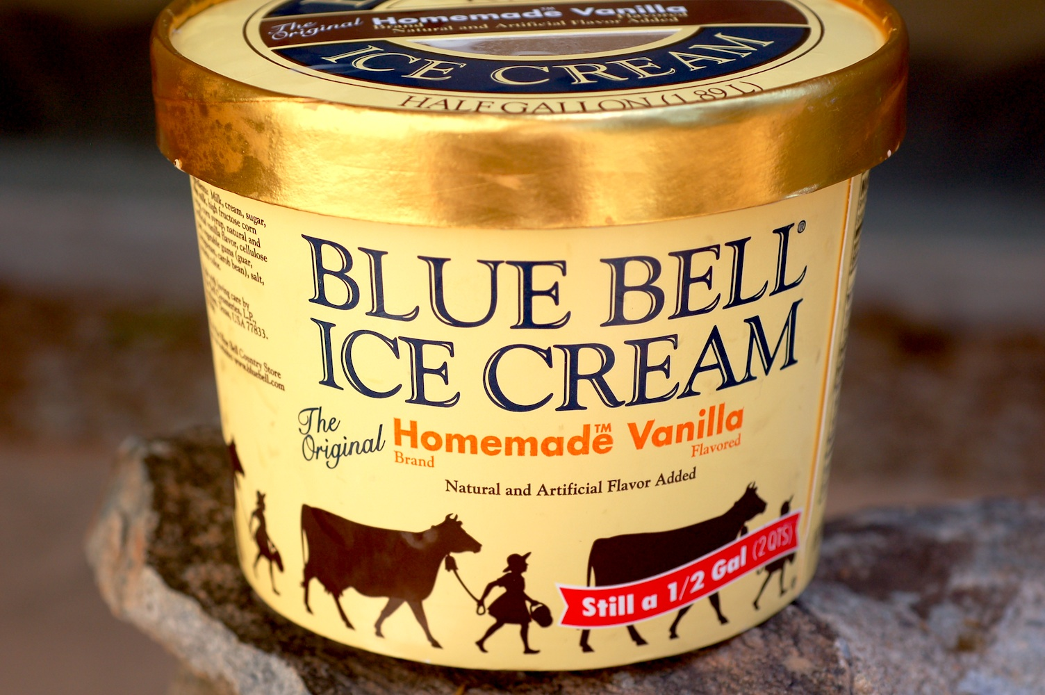 cream bell Blue bell's homemade vanilla is the perfect ice cream because it is so wildly tasty that it is the best pick for anything needing an ice cream pairing for thanksgiving, it goes with every pie on the table.
